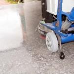 Concrete polish, Horsham, Alfresco slab