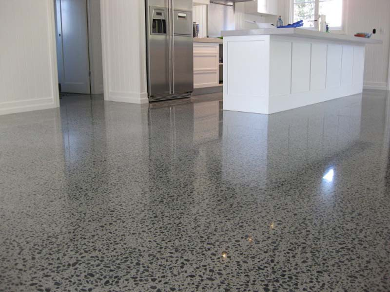 Horsham concrete grinding polished floor benchtop for Buffing stained concrete floors